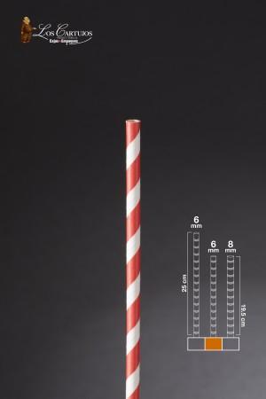 PITILLO DE PAPEL ROJO CAJA X 50 (6mm*19.5 cm)