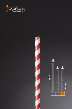 PITILLO DE PAPEL ROJO CAJA X 50 (8mm*19.5 cm)