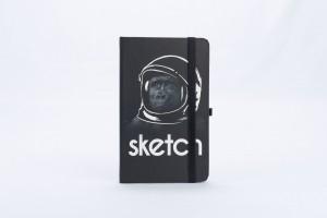 CUADERNO SKETCHBOOK SIMIO ASTRONAUTA 21X12cm x84H